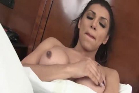 breasty t-girl brunette Jessy Dubai receives penetrated By Rob