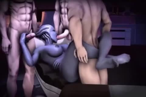 Liara Tsoni 3D Mass Effect wild Compilation With Sound!