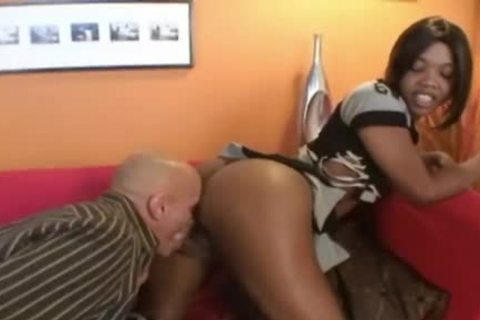 black shelady With A massive black cock Destroys Hunk's arse