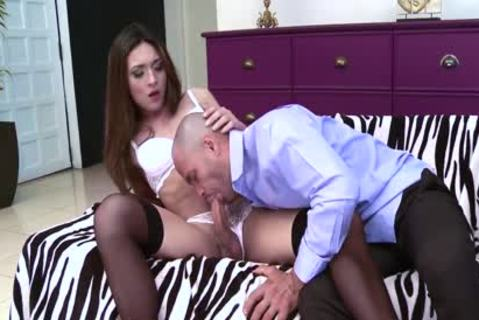yummy Trans slams And receive fucked Hard By lad With Facial cock juice flow