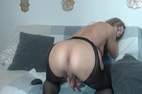 busty Russian shemale Masturbates And Cums On Her Belly