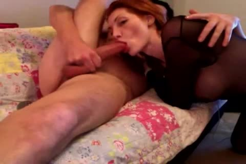 Super concupiscent Redhead tgirl Seeing A nice Costumer