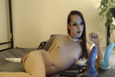 Femboy Plays With Herself On cam
