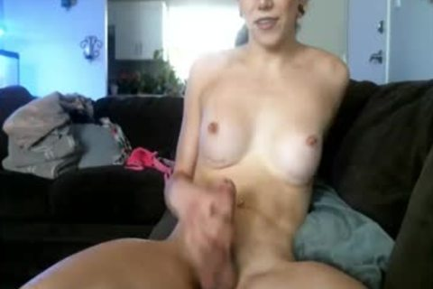 nasty American ladyboy Masturbates On web camera