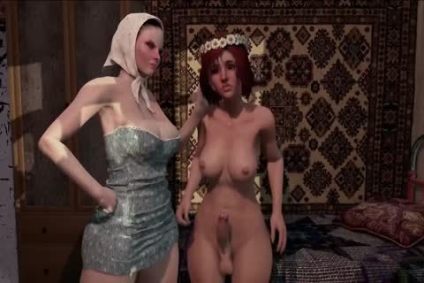 3D Futanari shemale Animation With Dickgirls