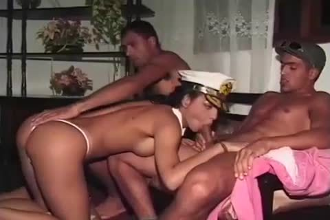 Uniformed ladyman And two delicious Fuckers