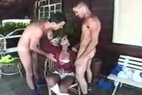 latin chick sheboy Pleases Two man On A Verandah