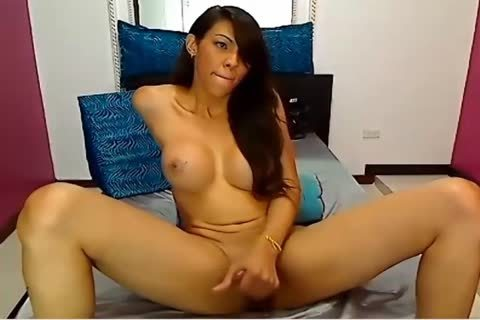 Latin ladyboy Cums And Her cum