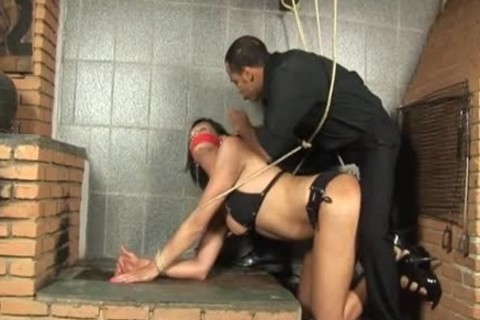 tied latin chick TS doggystyle hammered
